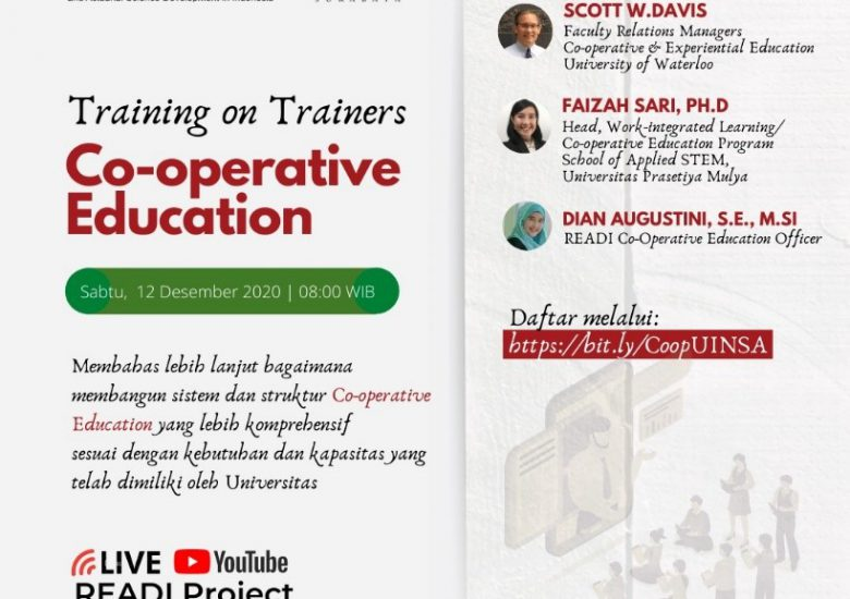 FST UINSA MELAKSANAKAN TRAINING ON TRAINERS CO-OPERATIVE EDUCATION BERSAMA READI PROJECT
