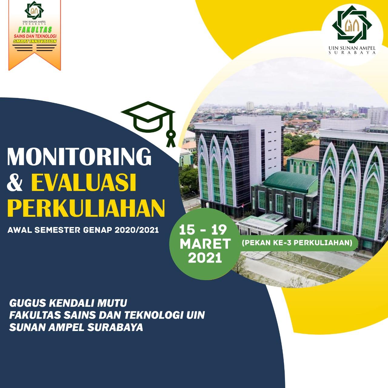 Kegiatan Monitoring dan Evaluasi Perkuliahan di awal semester genap 2020/2021